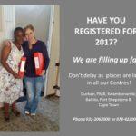 REGISTRATIONS for 2017